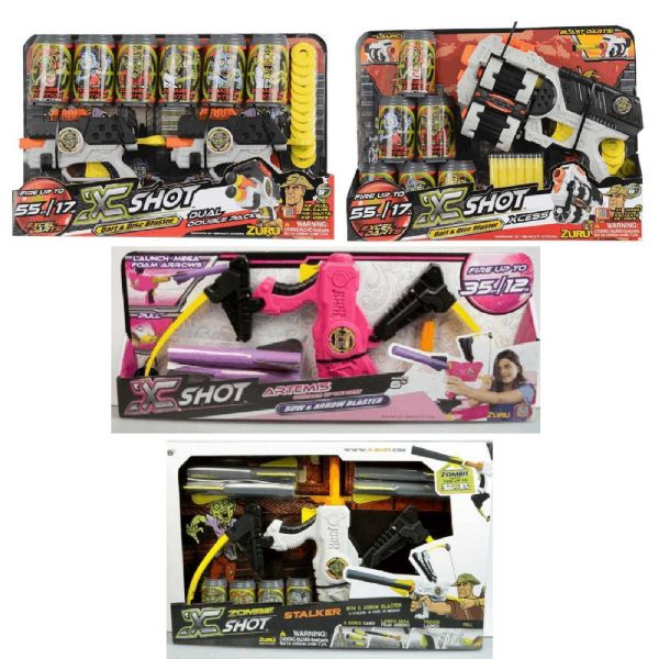 Zuru X Shot Blasters Foam Dart Toys,Zombie Edition Bow Blasters Choose one only